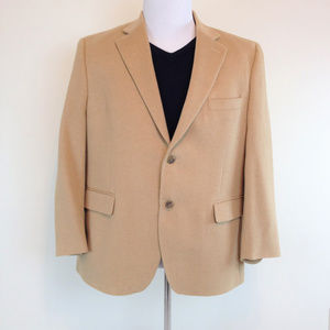 JOSEPH & FEISS 100% Camel Hair Sport Coat 44S